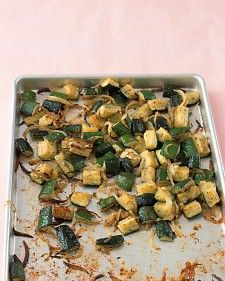 Roasted Zucchini with Thyme Chunks of zucchini and sliced onion become caramelized and tender when baked in a oven. Serve as a side dish with grilled lamb or pork kebabs, or toss the roasted zucchini with pasta. Get the Roasted Zucchini with Thyme Recipe Vegetable Sides, Vegetable Side Dishes, Vegetable Recipes, Vegetarian Recipes, Cooking Recipes, Healthy Recipes, Clean Recipes, Healthy Foods, Roasted Zucchini Recipes
