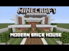 Modern brick house designs bricks design philippines houses front porch for homes with white railing clic Minecraft Houses For Girls, Minecraft Houses Xbox, Minecraft Houses Survival, Minecraft House Tutorials, Minecraft Houses Blueprints, Minecraft House Designs, Minecraft Buildings, Minecraft Stuff, Modern Brick House