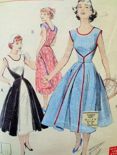 Vintage Butterick 6015 Sewing Pattern, Walkaway Dress, 1950s Dress Pattern Wrap Dress, Bust 30 Full Skirt, 50s Sewing Pattern Vintage Sewing by sewbettyanddot on Etsy