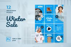 Instagram Puzzle – Winter Sale Fashion, is a professional, modern and elegant template for your Instagram posts and Gallery. Inspirational Posts, model photography, product Gallery, introduce your brand and more. With this Instagram post template, you can easily improve the quality of your Instagram with a more attractive and professional one.This template is fully editable and can be customized in Adobe Photoshop. It's very simple to use these template in Photoshop. Just edit texts and put… Instagram Banner, Instagram Grid, Instagram Posts, Instagram Post Template, Layout Template, Winter Sale, Text Color, How To Introduce Yourself, Your Photos