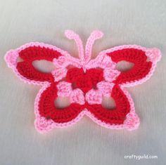 15 Free Crochet Butterfly Patterns - Crafty Guild