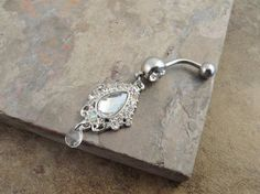 Vintage Charm Dangle Belly Button Ring Jewelry on Etsy, $16.50