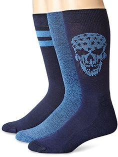 Lucky Men's 3 Pair Pack Athletic Skull Crew Sock, Denim, 10-13/Shoe Size 6-12 Lucky Brand http://www.amazon.com/dp/B00NII5PP6/ref=cm_sw_r_pi_dp_WDPhvb0T15F2T