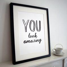 """van harte   """"You look amazing"""" Druckgrafik - ungerahmt   einfach & schnell online bestellen"""