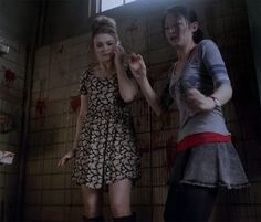 Despite the obvious look of terror in her eyes, Lydia is bangin' in this dress lol.                                                                                                                                                                                 Mais