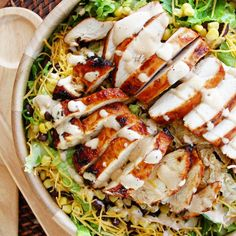 Barbecue Chicken Breast Salad - Gumba