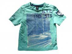 Maat 92 T-shirt Mint met print vor en achter  Merk Sevenoneseven