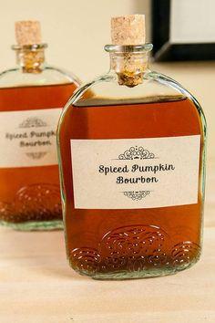 diy holiday gift ideas homemade Spiced Pumpkin Bourbon