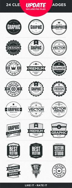 24 Clean Badges by Firman Suci Ananda , via Behance