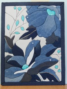 French Fashion Tips .French Fashion Tips Scrappy Quilts, Mini Quilts, Styrofoam Crafts, Denim Art, Batik Art, Denim Crafts, Craft Bags, Sewing Art, Embroidery Fashion