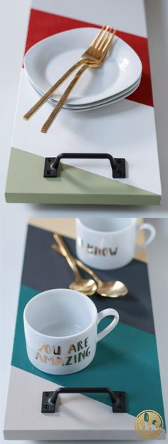 Add color and style to your entertaining with these DIY Serving Trays