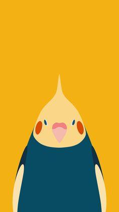 Bird Wallpaper - tori no iro Parrot Wallpaper, Marble Wallpaper Phone, Wallpaper Maker, Iphone Wallpaper, Parrot Drawing, Parrot Painting, Cockatiel, Budgies, Crazy Bird