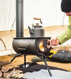 Frontier Plus Portable Woodburning Stove $450 - Useful for power outages (outdoor only, of course)