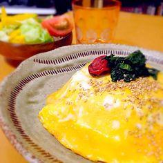 梅シソをトッピング ご飯はしめじと塩昆布 - 17件のもぐもぐ - 和風オムライス by miyuterrison