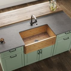 Who else would love this walnut sink in their home