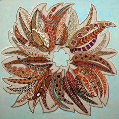 Tableau de #feuilles : Création Elena Nuez  #Automne