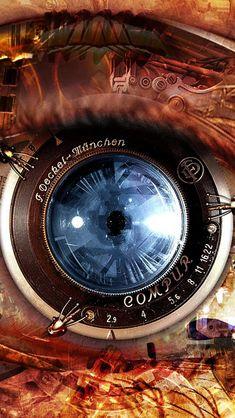 Mechanical Eye Steampunk #iPhone #5s #wallpaper