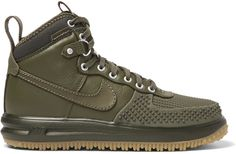 Nike Lunar Force 1 Duckboot Leather and Rubber Sneakers