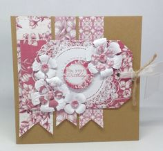 Created using Toile collection, design by Julie Hickey Craftwork Cards, Mothers Day Cards, Card Making, Scrapbook, Card Designs, Create, Simple, Card Ideas, Flowers