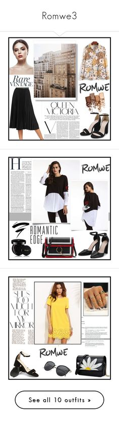 """""""Romwe3"""" by musicajla ❤ liked on Polyvore featuring Victoria Beckham, Maybelline, vintage, Guerlain, Rika, Fendi, Kester Black, Bobbi Brown Cosmetics, Punky Pins and Sephora Collection"""