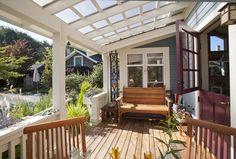 Pergola Ideas For Patio Patio Pergola, Pergola With Roof, Cheap Pergola, Pergola Shade, Backyard Patio, Glass Porch, Glass Roof, Outdoor Rooms, Outdoor Decor