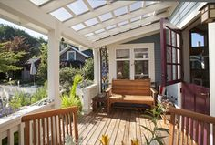 Covered porch - idea for screened porch