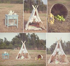 So cute- the tent could easily be made with a ladder and a fabulous tablecloth or something. I love it!