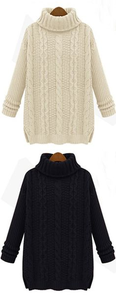 Be a casual beauty in a sleek and hot turtle neck sweater this cold sweater! Find more hot items at Cupshe.com