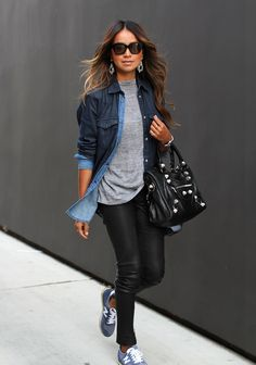 Fashion Inspiration | Chambray & Leather