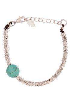 Turquoise & Silver Ring Bracelet