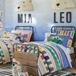 Gender neutral colors Margherita Missoni for Pottery Barn Kids Linen Patchwork Quilted Bedding // gender neutral colorful bedroom, boys bedding Boy And Girl Shared Bedroom, Girl Room, Bedroom Boys, Boy Bedrooms, Bedroom Ideas, Kids Bedroom Furniture, Baby Furniture, Gender Neutral Bedrooms, Bedroom Neutral