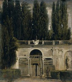 The Medici Gardens in Rome by Diego Velazquez  Date: 1630