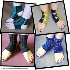 Free Patterns for #knitted yoga #socks by Knitting and so on