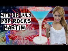 4th of July Pop Rocks Martini - Tipsy Bartender - YouTube