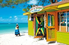 A Wooden Beach Bar in Jamaica (Caribbean Island) Jamaica Island, Island Beach, Haiti, Bora Bora, Barbados, North America Destinations, Jamaica Travel, Jamaica Beach, Bahamas