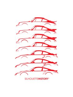 Turbo Sports Car SilhouetteHistorySilhouettes of Porsche 911 Turbo generations: two versions of 930 , 964, 993, early 996, 997 and 991FB, Instagram