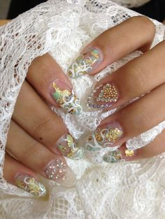Modern Bride Nail Art - www.nailsmag.com