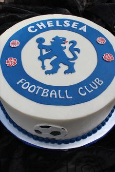 Grooms Cake - Chelsea Football Club - Buttercream cake and fondant accents.