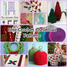 Over 150 Free Christmas Crochet Patterns - The Lavender Chair