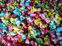 Colourful popcorn AKA candied popcorn