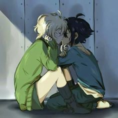 Discovered by yuki. Find images and videos about owari no seraph, mika and yuu on We Heart It - the app to get lost in what you love. Anime Nerd, Otaku Anime, Manga Anime, Mika Y Yuu, Mikaela Hyakuya, Emo Art, Seraph Of The End, Owari No Seraph, Cute Anime Boy