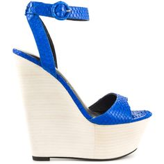Lust For Life Women's Amp - Cobalt Snake ($217) ❤ liked on Polyvore featuring shoes, blue, wedge heel platform shoes, blue shoes, blue wedge heel shoes, platform wedge shoes and wedge heeled shoes