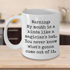 funny coffee mugs Free idea Coffee Mug Quotes, Coffee Humor, Coffee Mugs, Coffee Art, Coffee Creamer, Iced Coffee, Funny Cups, Funny Coffee Cups, Gag Gifts