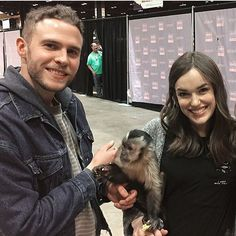 Iain de Caestecker, Elizabeth Henstridge and a Monkey Marvel Jokes, Marvel Films, Marvel Avengers, Marvel Comics, Iain De Caestecker, Leopold Fitz, Agents Of S.h.i.e.l.d, Shield Cast, Marvels Agents Of Shield