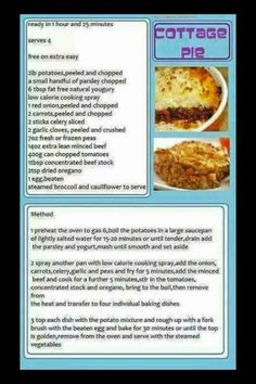 Slimming World Diet Plan, Slimming World Recipes, Cottage Pie, Peeling Potatoes, Healthy Eating Recipes, Food Hacks, Meals, Cooking, Kochen