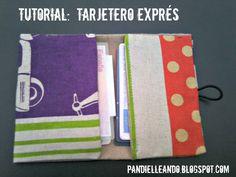 PANDIELLEANDO: tutorial: tarjetero exprés Ideas Para, Diy Ideas, Office Supplies, Notebook, Diy Crafts, Sewing, Knitting, Creative, Bags