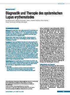 Deutsches Ärzteblatt: Diagnostik und Therapie des systemischen Lupus erythematodes