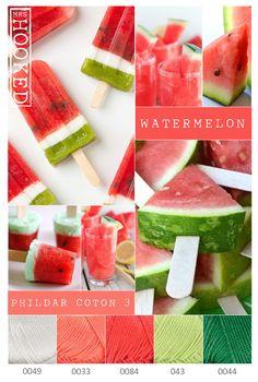 Frisse zomertinten - watermelon - Phildar Coton 3 - MrsHooked
