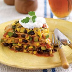 Mexican Lasagna - Woman's Day this is seriously one of my favorite dishes!!!!