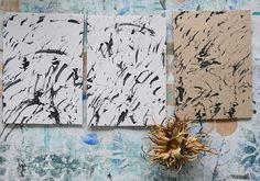Müllerin Art: Mark Making: Nussmalerei (Muster-Mittwoch 196) Mark Making, Moose Art, Studio, Animals, Design, Paper, Art Education Resources, Stamps, Pisces